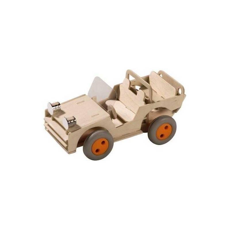 FUORISTRADA KIT DI COSTRUZIONE in legno FUNZIONANTE 4x4 Terra Kids HABA 6+
