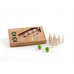GREEN MINI BOWLING gioco in legno MILANIWOOD 100% made in Italy 4+