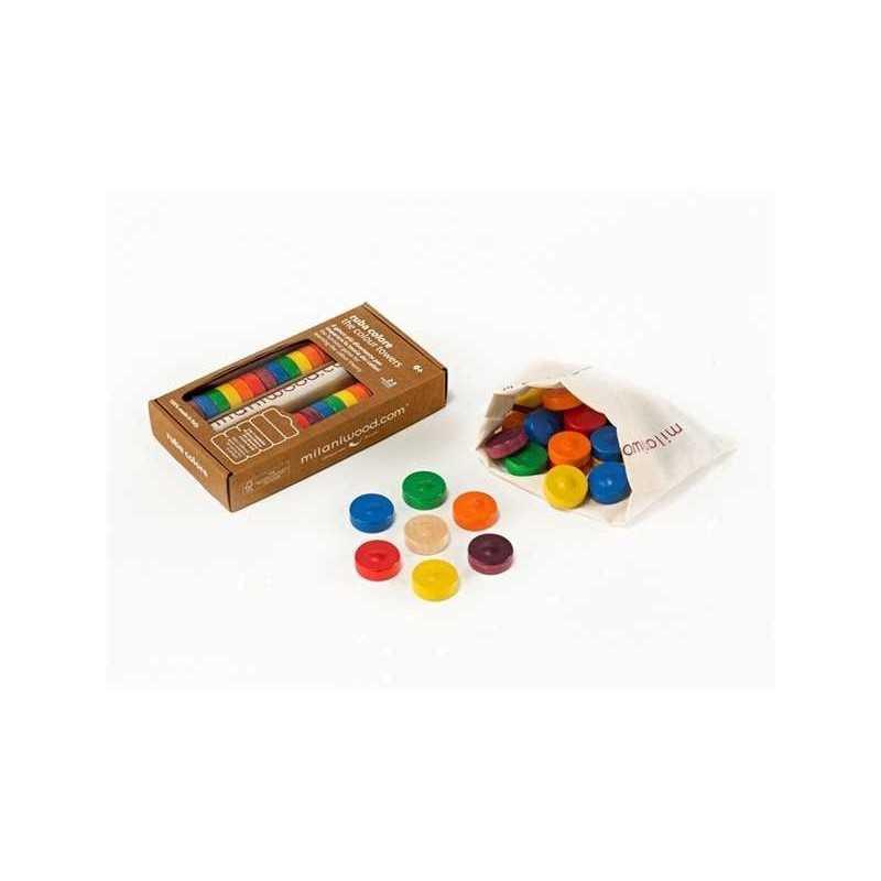 TORRE RUBA COLORE gioco in legno MILANIWOOD 100% made in Italy 6+