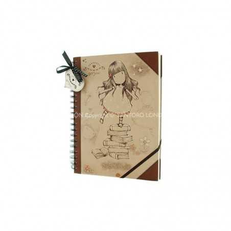 SKETCH BOOK SET Gorjuss 364GJ01 SANTORO blocco schizzi spiralato NEW HEIGHTS 100pag