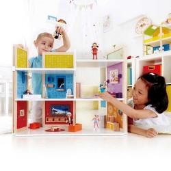 CASA DEI SOGNI MAGNETICA delle bambole HAPE età 3+ gioco in legno CON ARREDI
