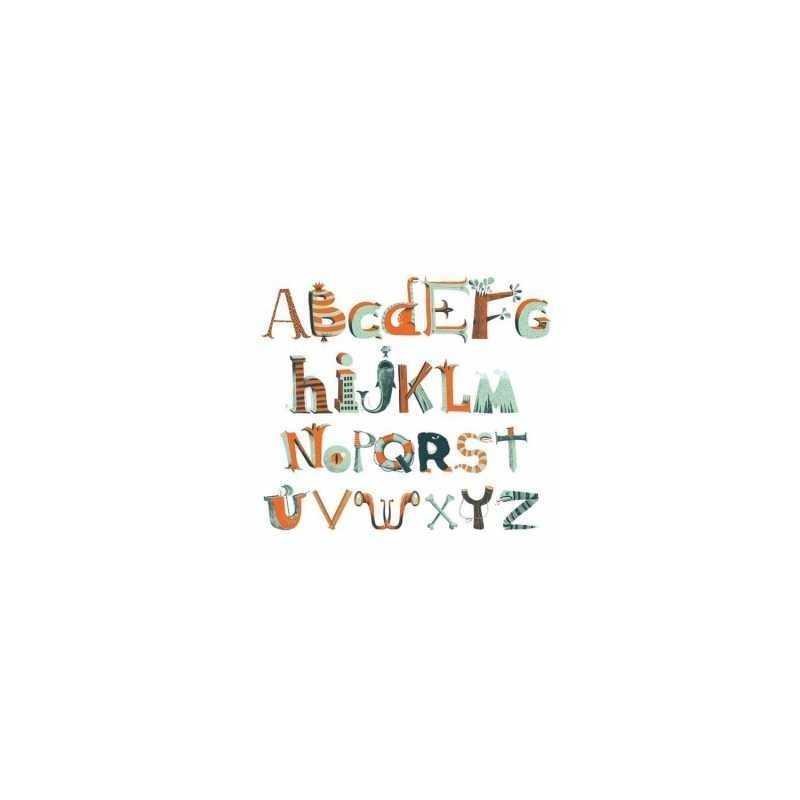 Adesivi ALFABETO DEI PIRATI attaccastacca da muro Djeco 112 pezzi DD04530