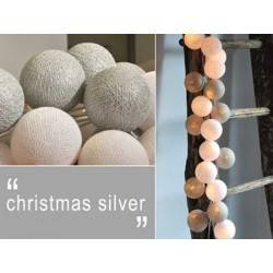 LUCI HAPPY LIGHTS CHRISTMAS SILVER NATALE fila 20 palline colorate in corda con lampadine