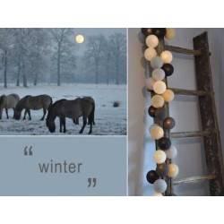LUCI HAPPY LIGHTS WINTER fila 20 palline colorate in corda con lampadine