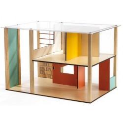 CUBIC HOUSE casa delle bambole Djeco moderna non arredata DJ07801