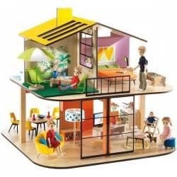 COLOR HOUSE casa delle bambole Djeco classica non arredata DJ07803