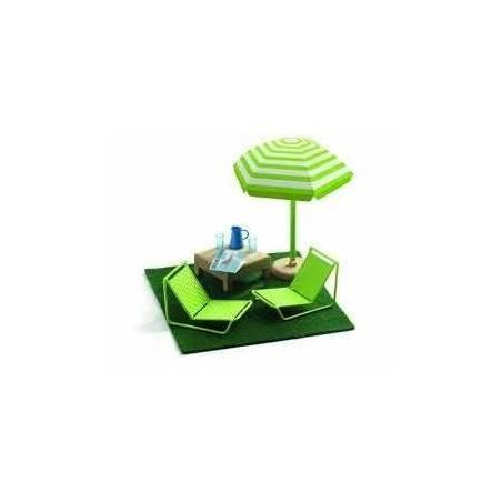 TERRAZZA casa delle bambole accessorio mobili Djeco DJ07828 Mon petit home
