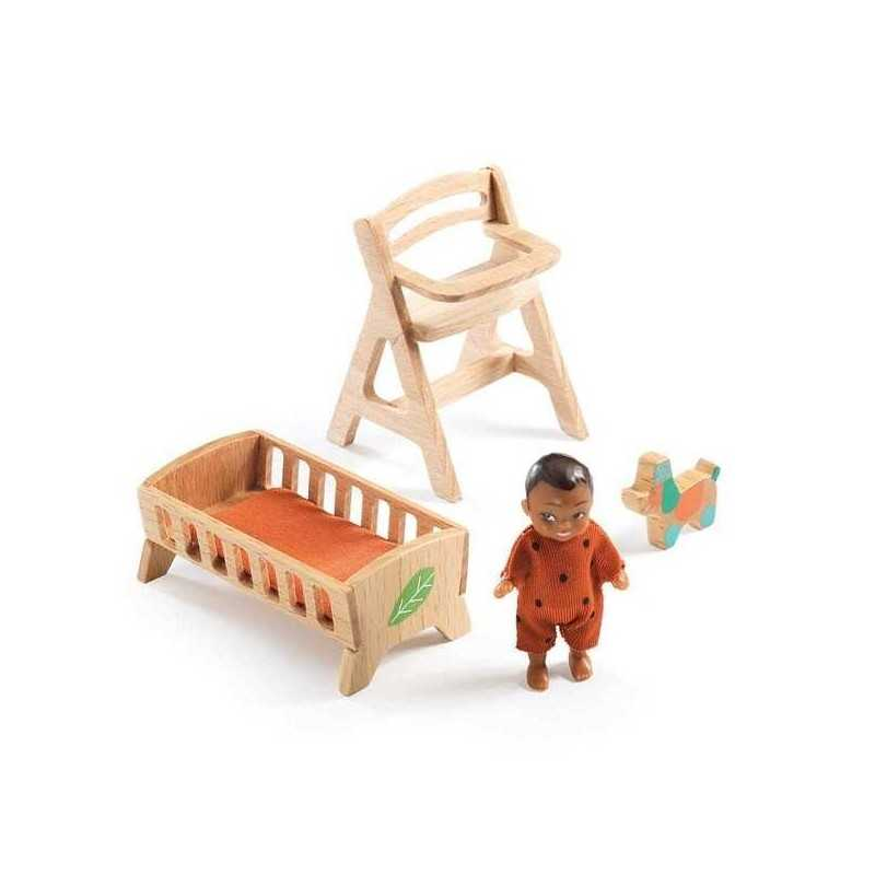 CAMERETTA DOLCE BEBE SWEETIE casa delle bambole accessorio mobili Djeco DJ07815 Mon petit home