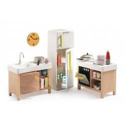 CUCINA COMPLETA casa delle bambole accessorio mobili Djeco DJ07823 Mon petit home