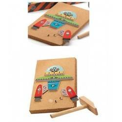 Kit creativo TAP TAP SPAZIO con chiodini e martello by DJECO DJ06642