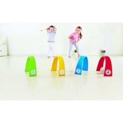 CRICKET COLORATO gioco in legno per bambini età 3+ HAPE Croquet Tunnels