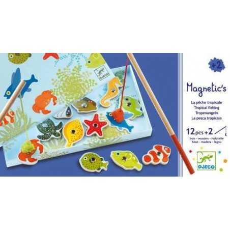 Pesca magnetica tropicale in legno Djeco DJ01652