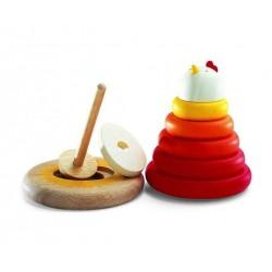 CACHEMPIL gioco in legno impila anelli Djeco DJ06303