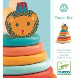 JUNZO LION ANELLI DA IMPILARE in legno Djeco DJ06440