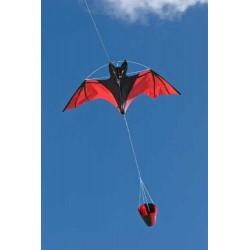 AQUILONE MONOFILO RED BAT 3D PIPISTRELLO ROSSO single line kite INVENTO HQ