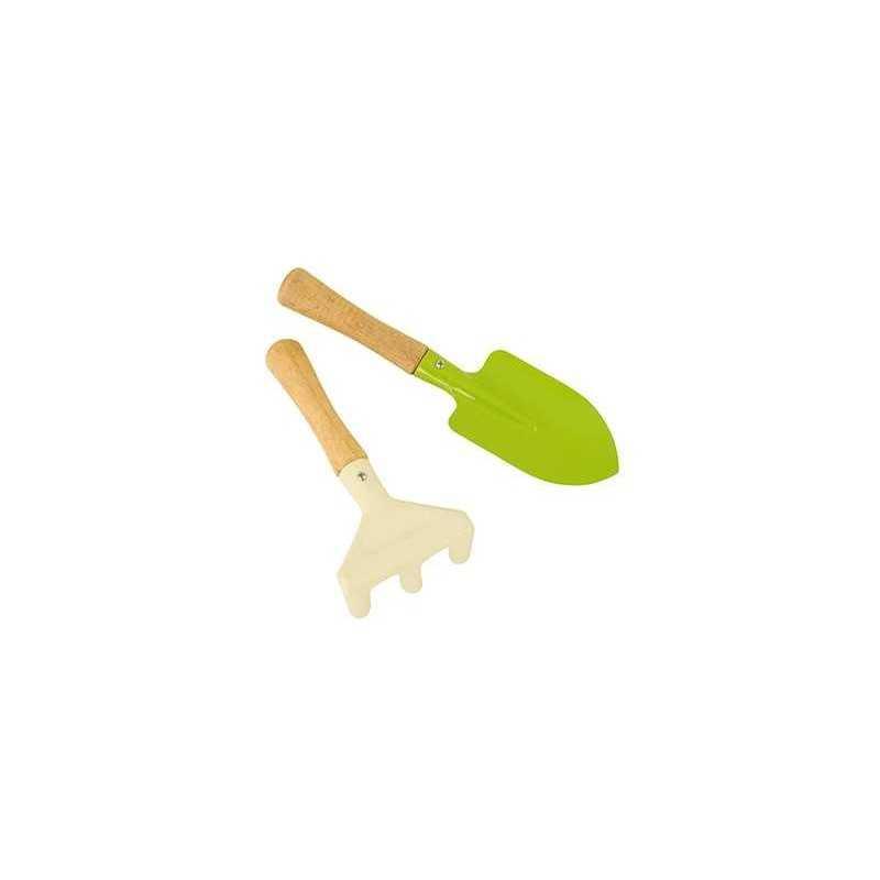 SET 2 ATTREZZI rastrello e badile MINI giardinaggio per bambini MOULIN ROTY