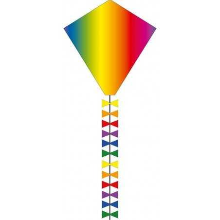 AQUILONE MONOFILO ECOLINE EDDY RAINBOW 50 cm single line kite INVENTO HQ