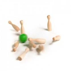 BOWLING jouet en bois vert MINI MILANIWOOD 100 % fait en Italie + 4