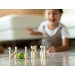 BOWLING grünen MINI Holz Spielzeug MILANIWOOD 100 % hergestellt in Italien + 4