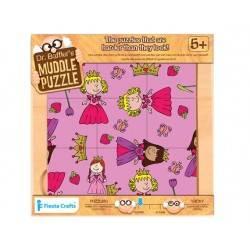 "9 Puzzle pieces. ""Princess"", age 5 +"
