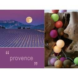 LUCI HAPPY LIGHTS PROVENCE fila 20 palline colorate in corda con lampadine spina