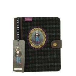 DIARIO COPERTINA IN TWEED CAMEO Gorjuss SANTORO Journal Notebook TOADSTOOLS 306