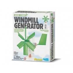 WINDMILL GENERATOR wind EOLICO vento 4M scienza da montare SENZA BATTERIE età 8+