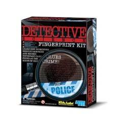 FINGERPRINT KIT Detective Scienza IMPRONTE DIGITALI scientifico 4M età 8+ Kit
