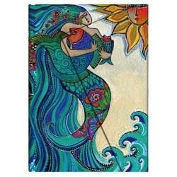 Diario a righe CANTO DI SIRENA mini cm 10x14 PAPERBLANKS Ocean Song Laurel Burch