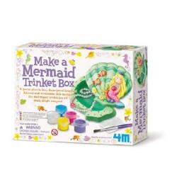 Mermaid trinket box CREA UN COFANETTO CONCHIGLIA SIRENA kit artistico 4M età 5+