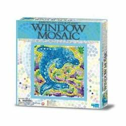 Window Mosaic Nature DOLPHIN 4M Kit Artistico Mosaico Finestra Animali DELFINO 7+