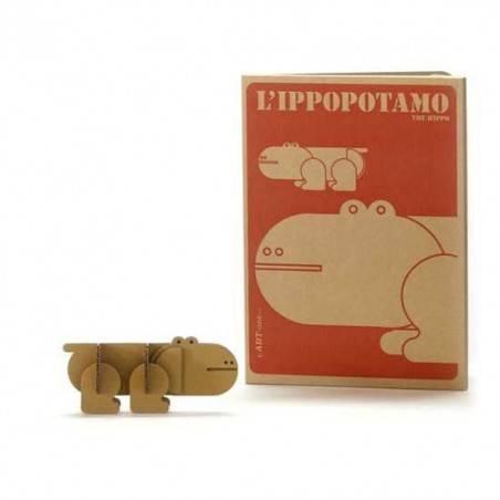 Libro Simba IPPOPOTAMO da COSTRUIRE COLORARE cartone 28 Magic World GUT Made in Italy