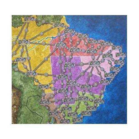 ALTA TENSIONE espansione MAPPA BRASILE SPAGNA PORTOGALLO Power Grid map Spain Brazil Portugal