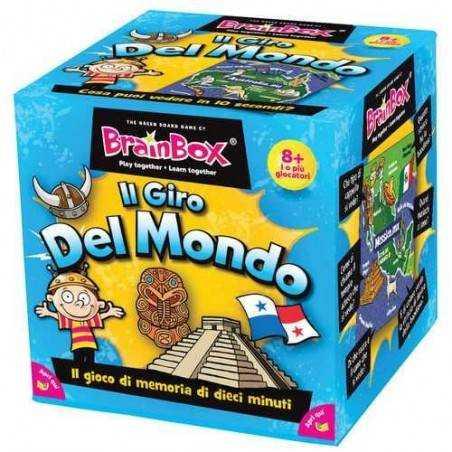 BRAIN BOX IL GIRO DEL MONDO italiano gioco di carte memoria da 8 anni memory brainbox