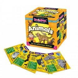 BRAIN BOX ANIMALI italiano gioco di carte memoria da 8 anni memory brainbox