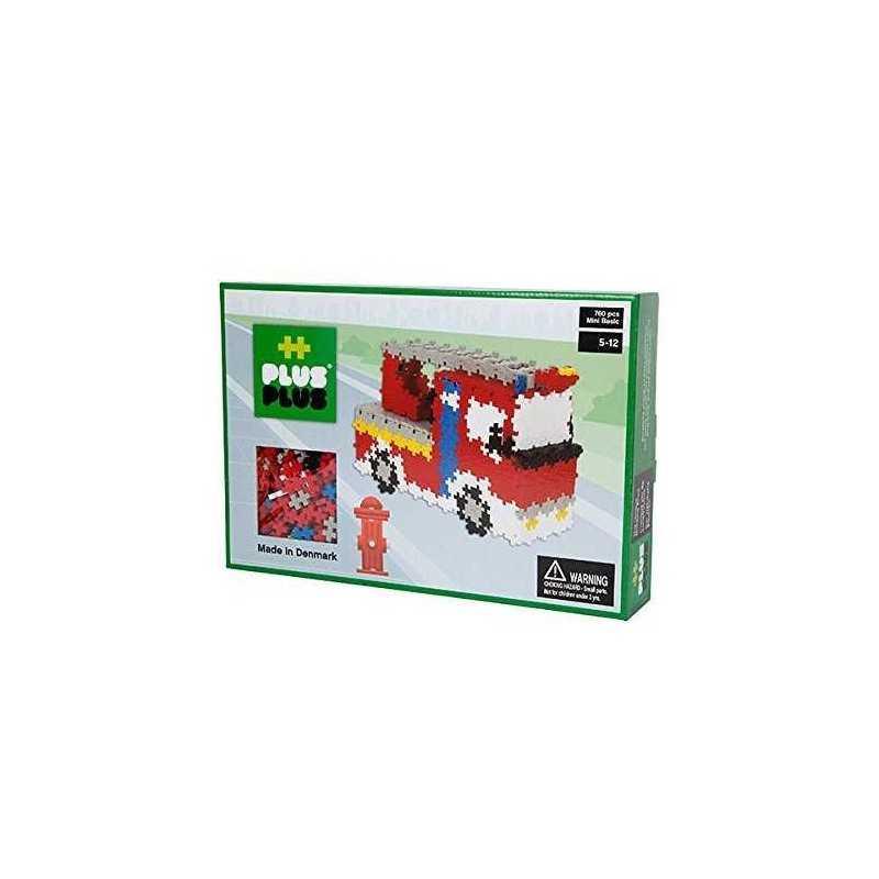 MINI BASIC 760 pezzi VIGILI DEL FUOCO PLUSPLUS gioco costruzioni Pompieri