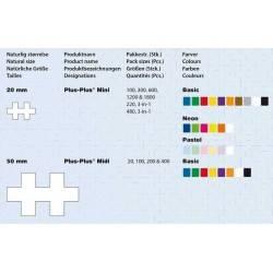 MIDI BASIC 20 pezzi PLUSPLUS gioco modulare costruzioni età 1-5