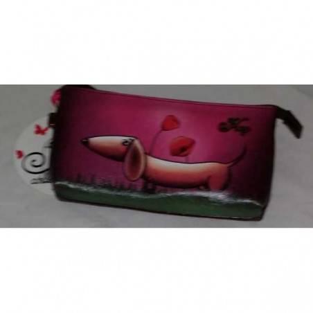 Astuccio trousse busta SILVIA Hoy school chic SEVEN borsello pochette ROSA cane