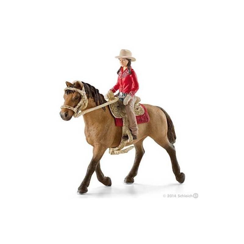 CAVALLERIZZA WESTERN personaggi in resina SCHLEICH Farm Life 42112 cavallo