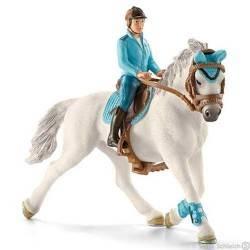 CAVALLERIZZA personaggi in resina SCHLEICH Farm Life 42111 cavallo fantino rider