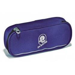 PORTAPENNE ASTUCCIO zip LIP BLU bustina INVICTA elastici interni PENCIL BAG