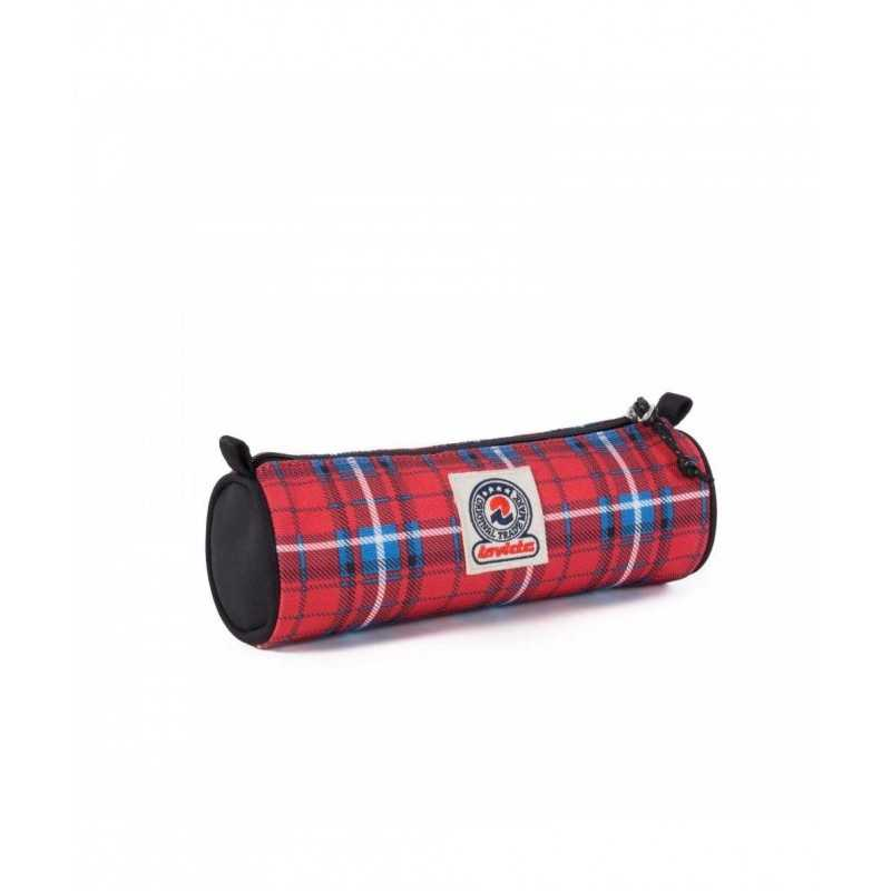 PORTAPENNE ASTUCCIO zip NOSE INVICTA busta PENCIL BAG tombolino TARTAN ROSSO