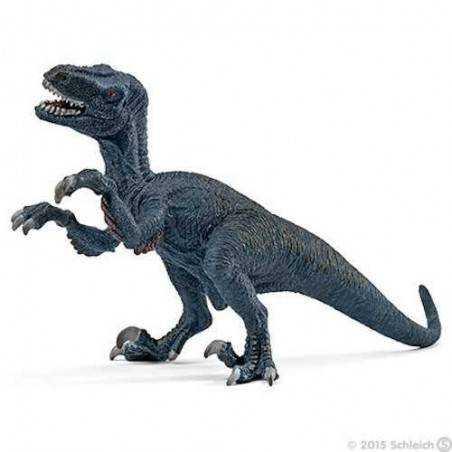 PICCOLO VELOCIRAPTOR small Schleich 14546 dinosaur BLU miniatura in resina DINO