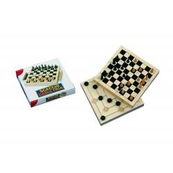 SCACCHI DAMA TRIA 30 CM triplo gioco in legno DAL NEGRO dalnegro DA 8 ANNI IN SU