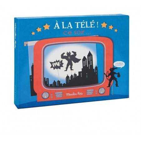 COFANETTO TELEVISIONE scatola e ombre incluse MOULIN ROTY a la tele ce soir 4+ proiezione
