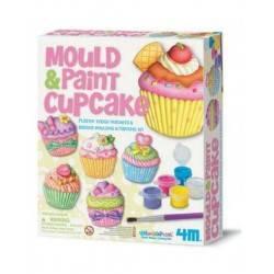 Mould & Paint Cup Cake KIT MODELLA E COLORA - CUPCAKE artistico 4M età 5+ gesso
