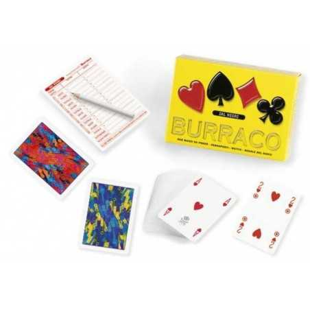 set BURRACO kit con 2 mazzi da poker segnapunti matita regole DAL NEGRO dalnegro