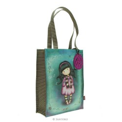BORSA SHOPPER BAG Gorjuss LITTLE SONG coated 290GJ12 Santoro RIVESTITA