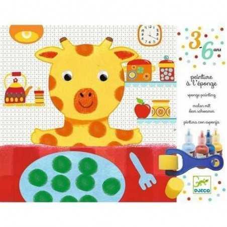 PITTURA A SPUGNA AVVENTURE DEI DOUDOU Djeco età 3-6 anni KIT ARTISTICI DJ09880