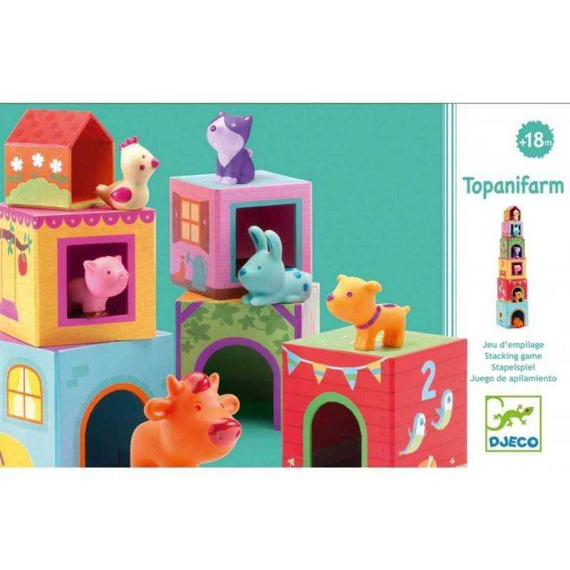 Djeco TOPANIMO SET of BUILDINGS with ANIMALS age 18 months +